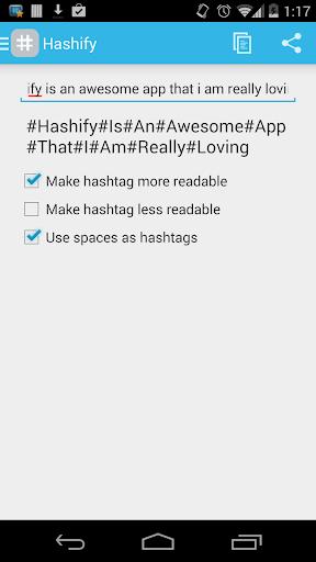 Hashify: Text to Hashtags