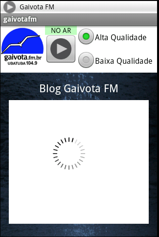 Gaivota FM- screenshot