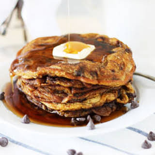 Pumpkin Chocolate Chip Pancakes.