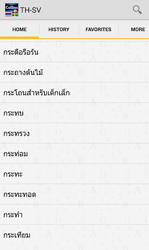 ThaiSwedish Mini Dictionary