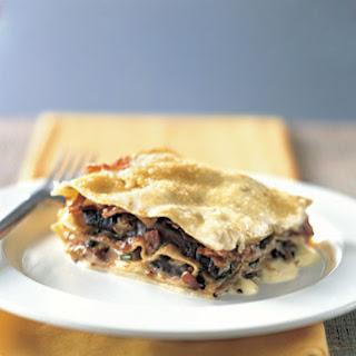 Roasted Portobello and Prosciutto Lasagna