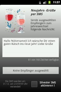 Silvester SMS- screenshot thumbnail