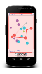 Swipe Off : a moving Dots Game - screenshot thumbnail