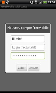 FreeMobile Suivi Conso - screenshot thumbnail
