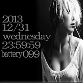 Smoking Girl digital clock