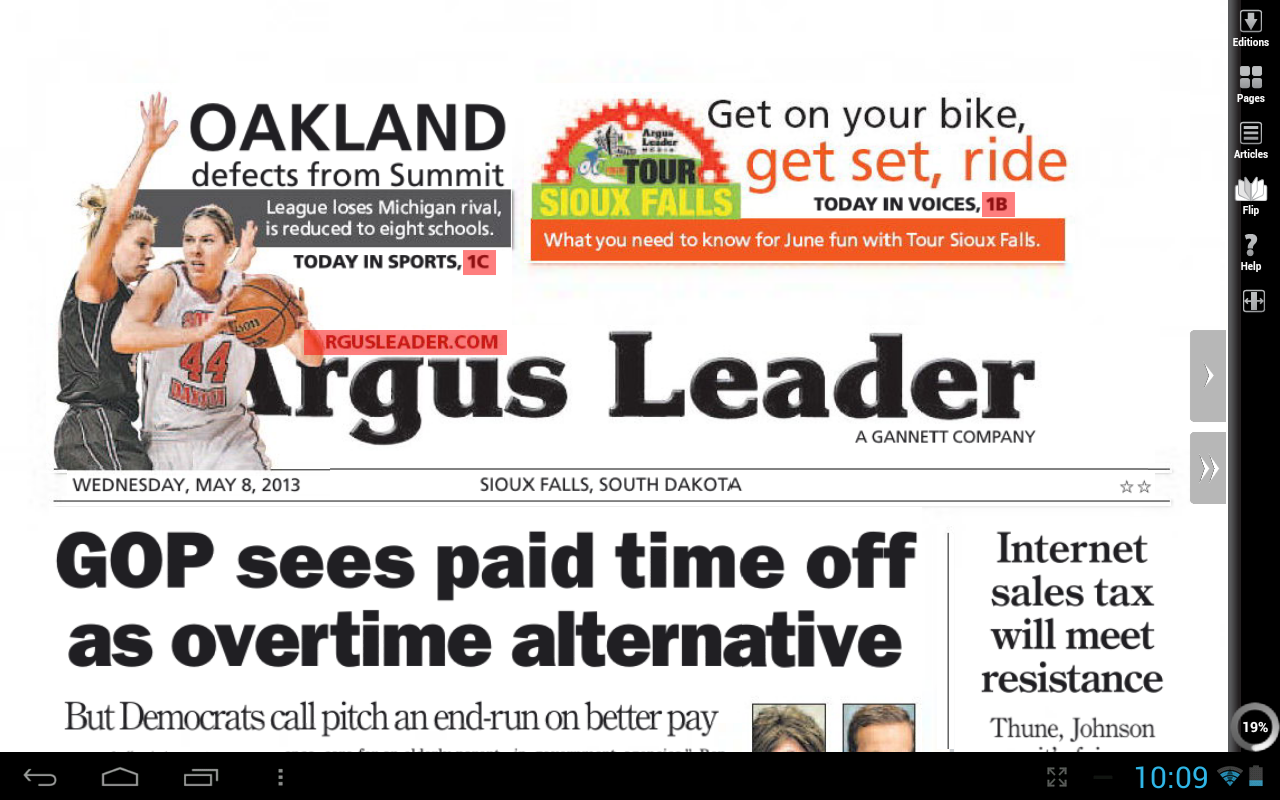 argus leader print edition android apps on google play. Black Bedroom Furniture Sets. Home Design Ideas