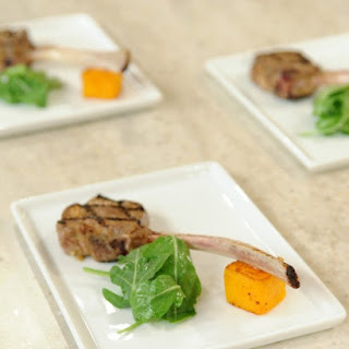 Grilled Lamb Chops Scotta Dita with Maple-Roasted Butternut Squash