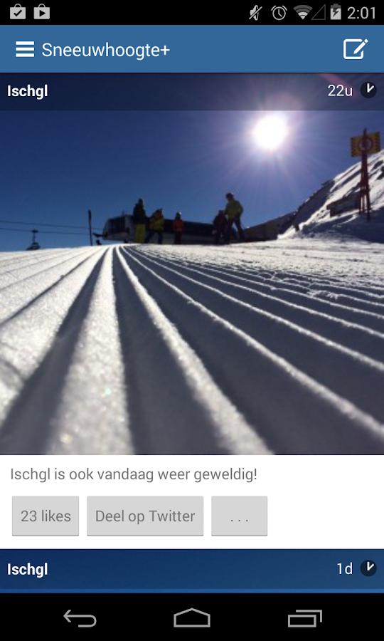 Sneeuwhoogte+ - screenshot