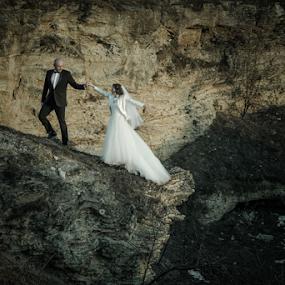 High by Vasiliu Leonard - Wedding Bride & Groom ( wedding photography, fotograf nunta iasi, wedding photographers, wedding, fotografii nunti, poze nunta iasi, nunta,  )