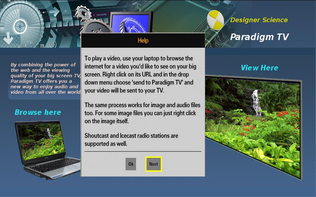 Paradigm TV - screenshot