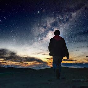 Starry Night by Apollo Reyes - Instagram & Mobile iPhone ( milkyway, dawn, stars, night, dusk, milky way,  )