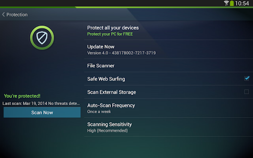 Mobile AntiVirus Security PRO - screenshot thumbnail
