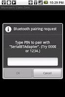 Screenshot of Bluetooth Class Zero