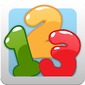 Kids balloon game: numbers logo