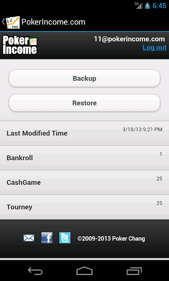 Poker Income ™ Tracker- screenshot