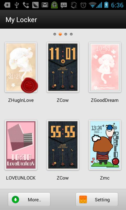 ZHugInLove GOLockerTheme - screenshot
