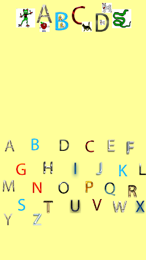 A baby ABC with characters