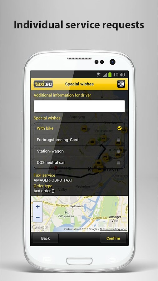 taxi.eu – Taxi App for Europe - screenshot