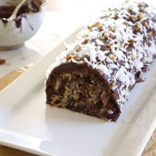 German Chocolate Cake Roll.