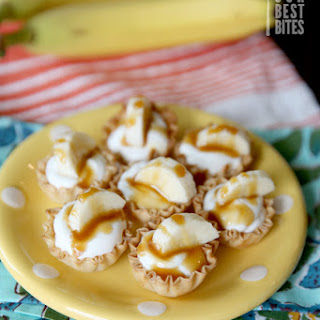 Peanut Butter Banana Cream Pie Bites