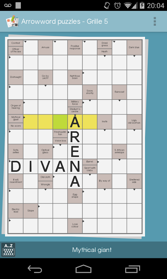 grid games crossword sudoku screenshot
