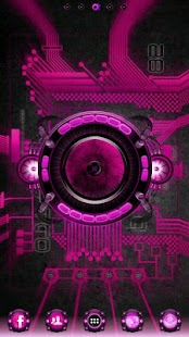 Pink Bionic Live Wallpaper PRO - screenshot thumbnail