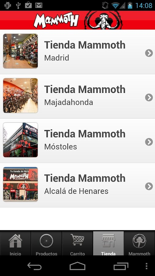 Mammoth Bicicletas- screenshot