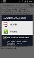Screenshot of NoUSSD