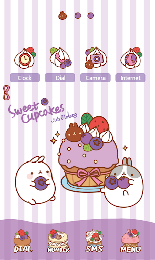 CUKI Themes Molang's cupcake