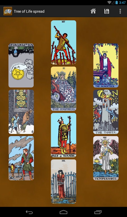 Tarot Divinations Pro- screenshot