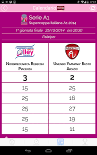 Livescore Lega Volley Femm.- miniatura screenshot