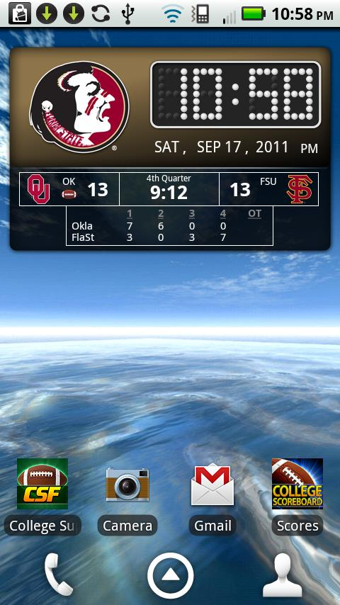FSU Seminoles Live Clock - screenshot