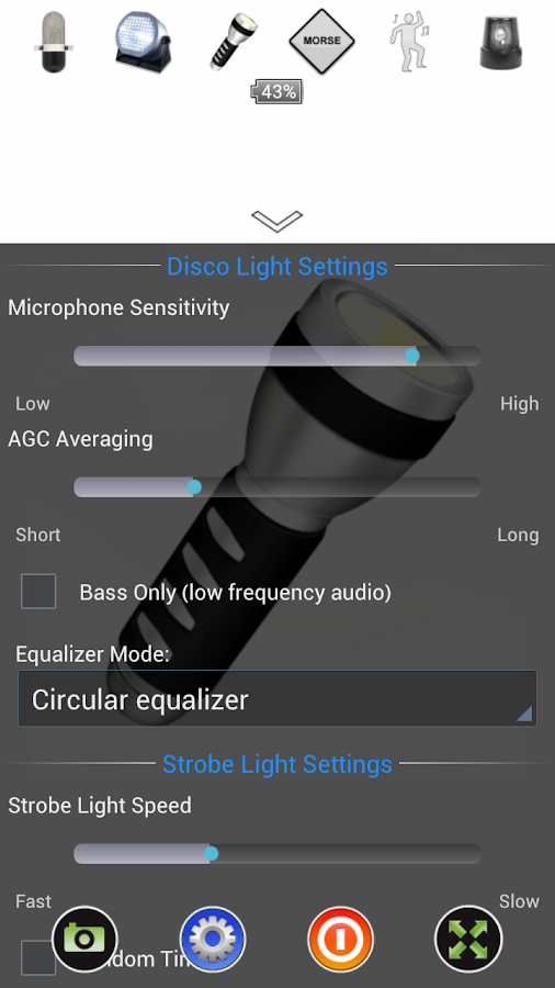 Disco Light™ LED Flashlight - screenshot