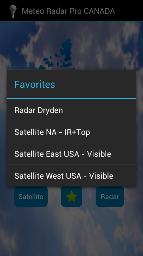 Meteo Radar Pro Canada- screenshot