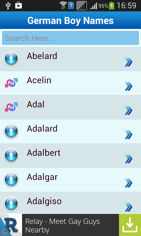 German Baby Names Meaning Screenshot