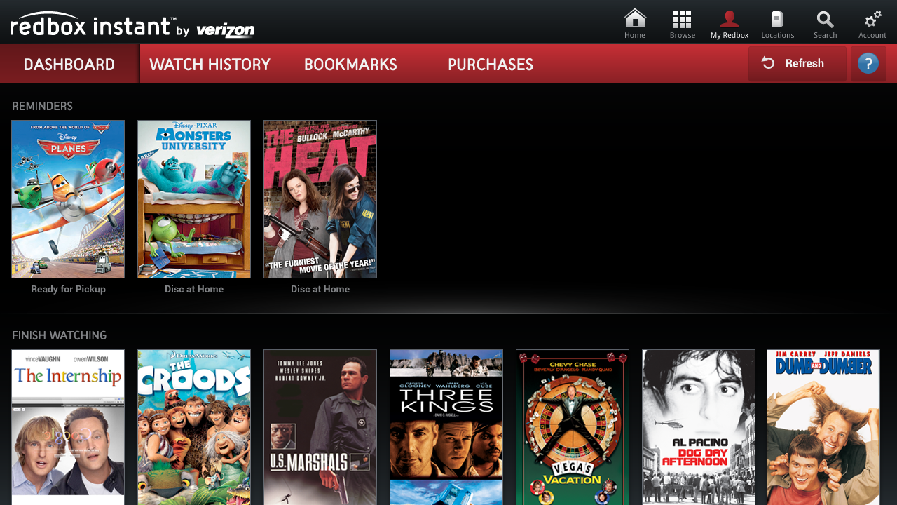 Redbox Instant for Google TV - screenshot
