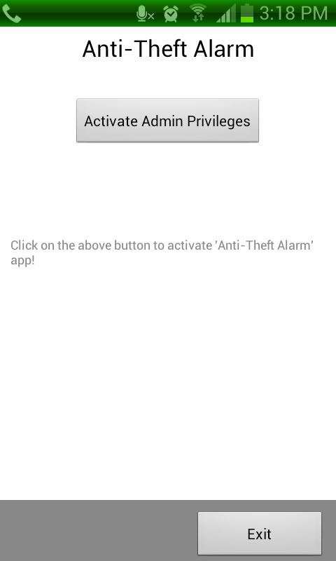 Anti Theft Alarm- screenshot