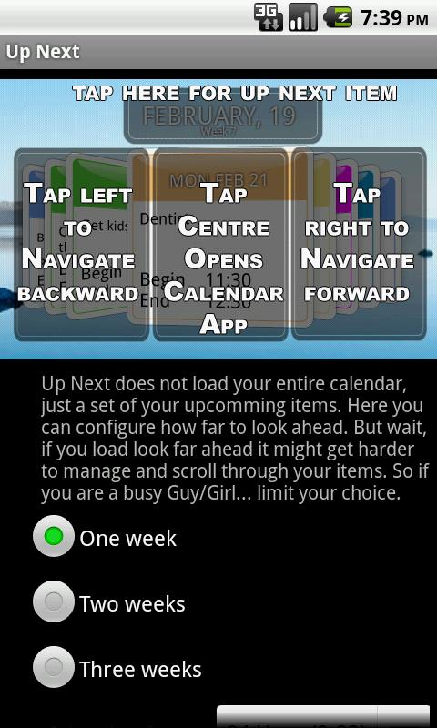 Up Next 3D Calendar Widget - screenshot