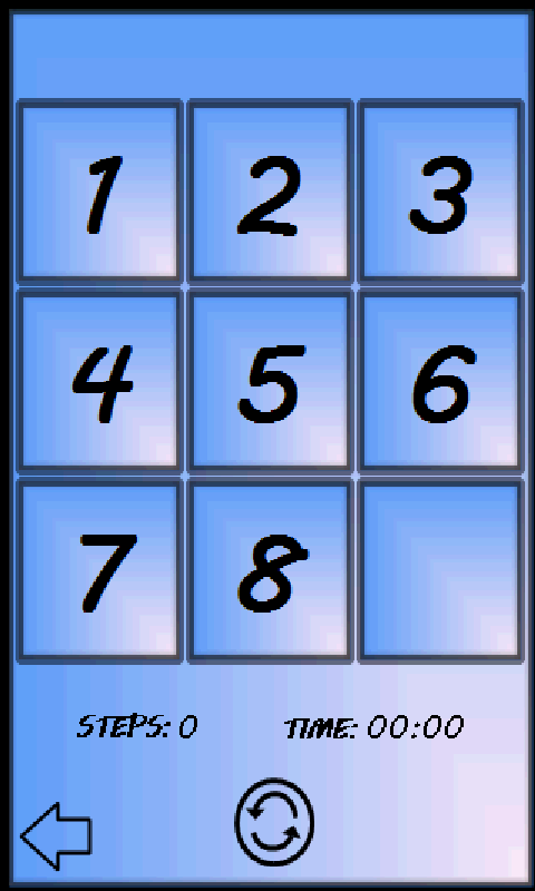 15 Number Puzzle Game- screenshot