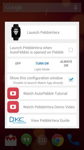 PebbleVera with AutoApps