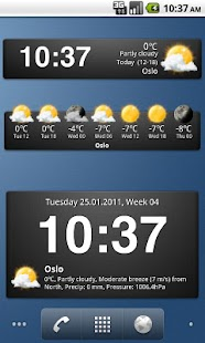 Weather widgets- screenshot thumbnail