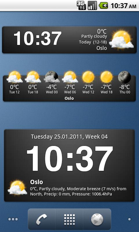 Weather widgets - screenshot