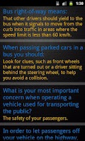 Screenshot of Bus Driving Theory Test Class2