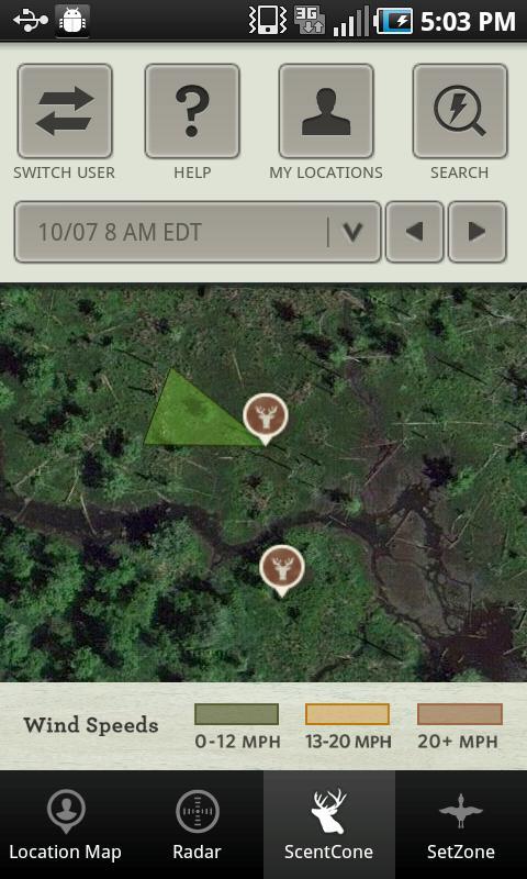 Mossy Oak Hunting Weather App - screenshot