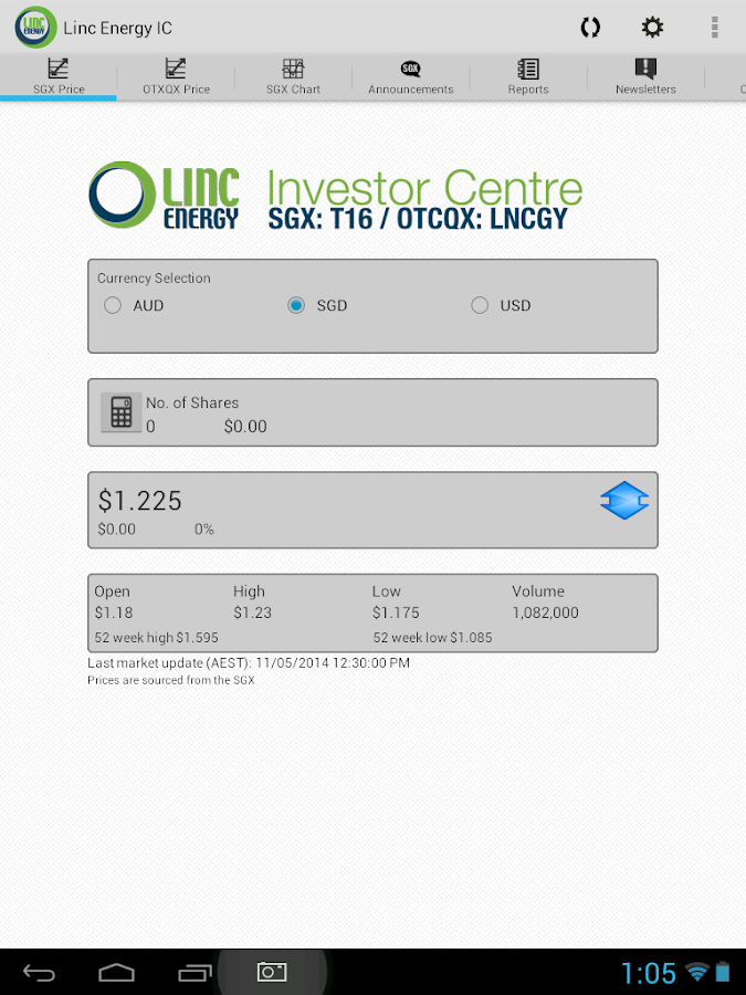 Linc Energy IC- screenshot