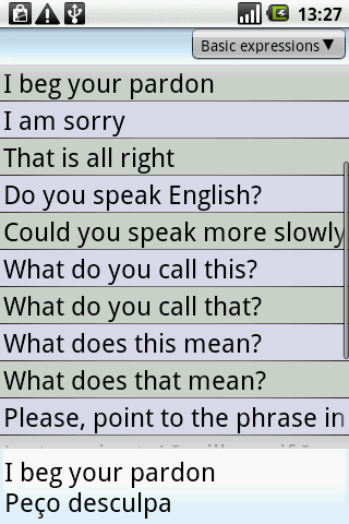 BKS English-Portuguese PhrBk - screenshot