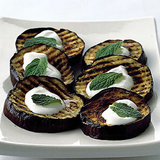 Grilled Eggplant with Lebneh.