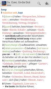 Concise Oxford German Dict. TR- screenshot thumbnail