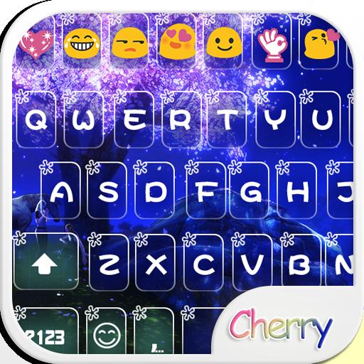Moon Cherry Emoji Keyboard