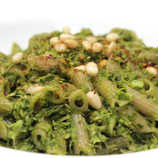Tuna Basil Pesto Gluten-Free Pasta With Pine Nuts.
